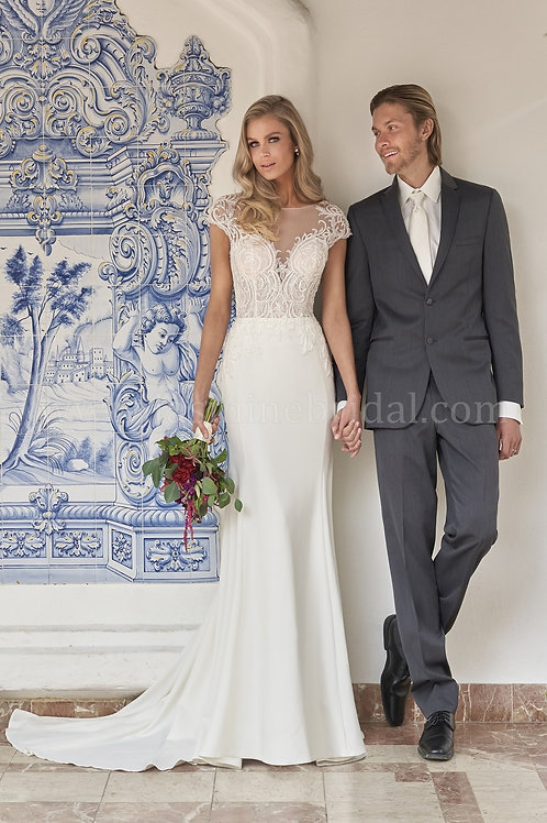 Ivory Beaded Bridal Gown Size 10