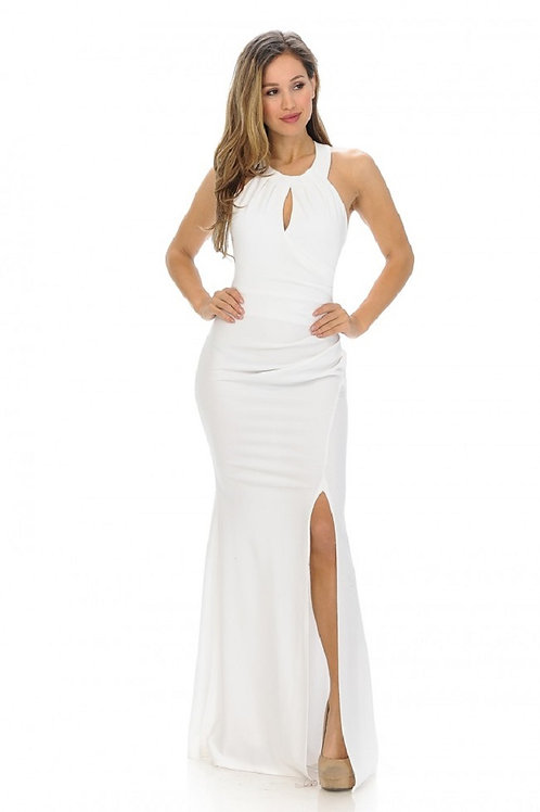Ivory Halter Top Bridal Gown Size S