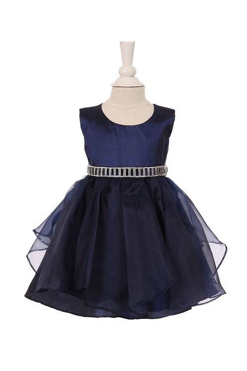Baby Girls Navy Embellished Dress Size 0-6 Months