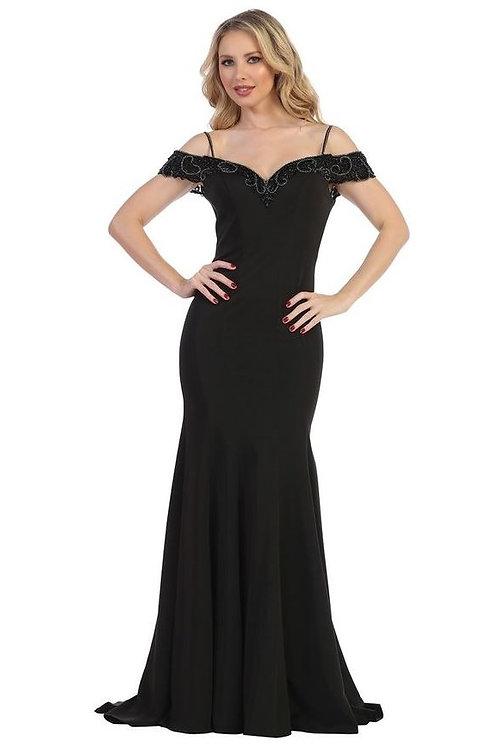 Black Off Shoulder Long Dress Size XS, L