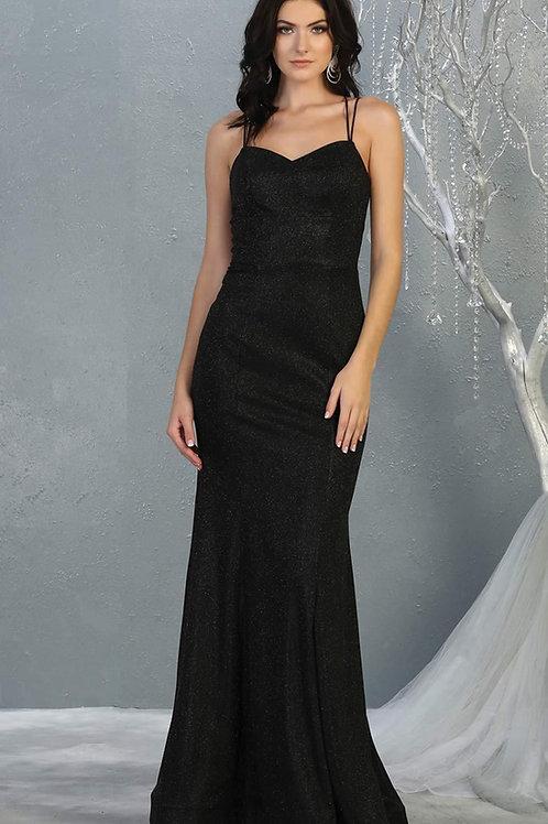 Black Shimmer Long Dress Size 4