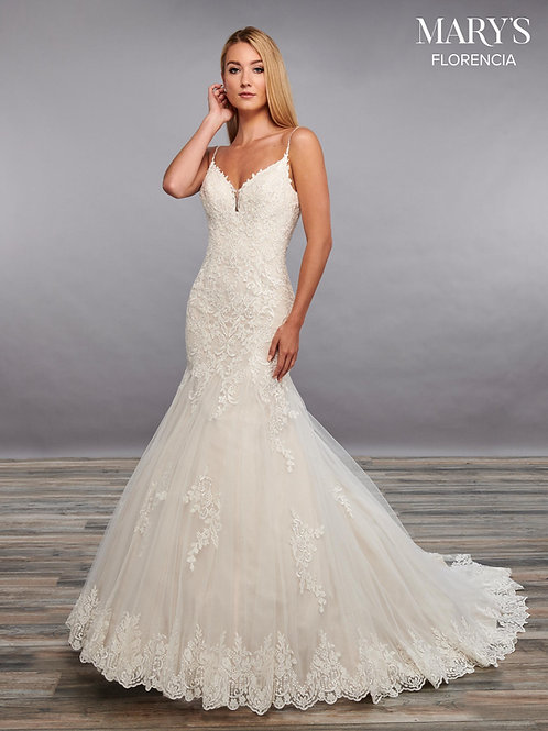 White Lace Fit & Flare Bridal Gown Size 10