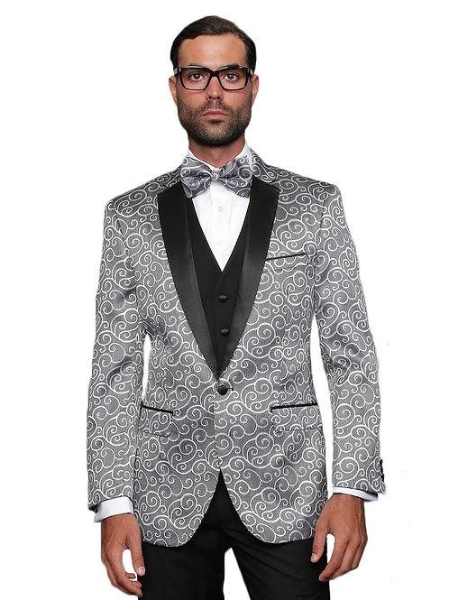 Silver & Black Swirl Blazer
