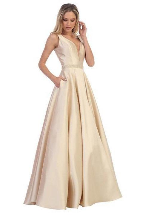 Champagne Satin Bridal Gown Size XL