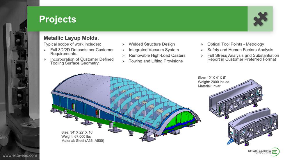 Metallic Layup Molds
