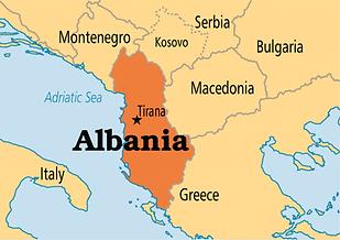 موقع ألبانيا