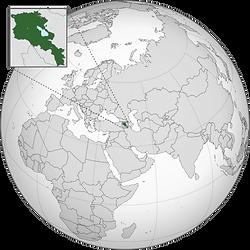 موقع أرمينيا