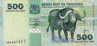 Tanzanian shilling(TZS)