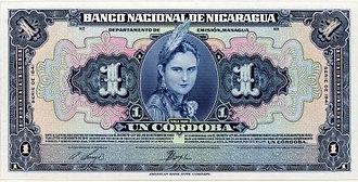 Nicaragua Cordoba banknote