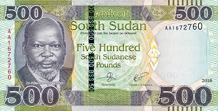 South Sudanese pound(SSP).