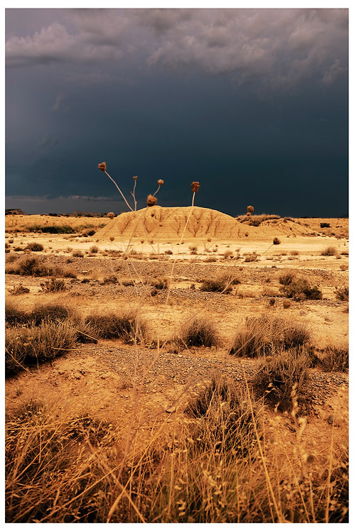 Red Storm Over The Desert, Bardenas Reales, Spain, 2020