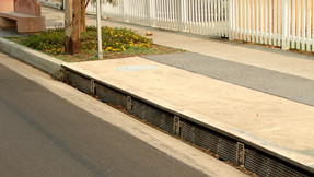 One of our patented storm drains
