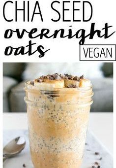 Vegan Peanut Butter Banana Overnight Oats