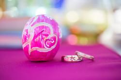 Custom handmade confetti eggs.