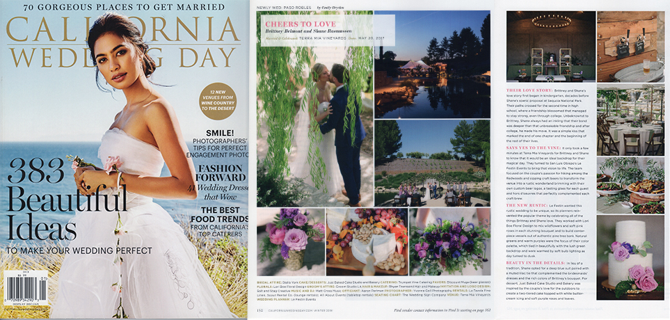 California Weddnig Day Magazine