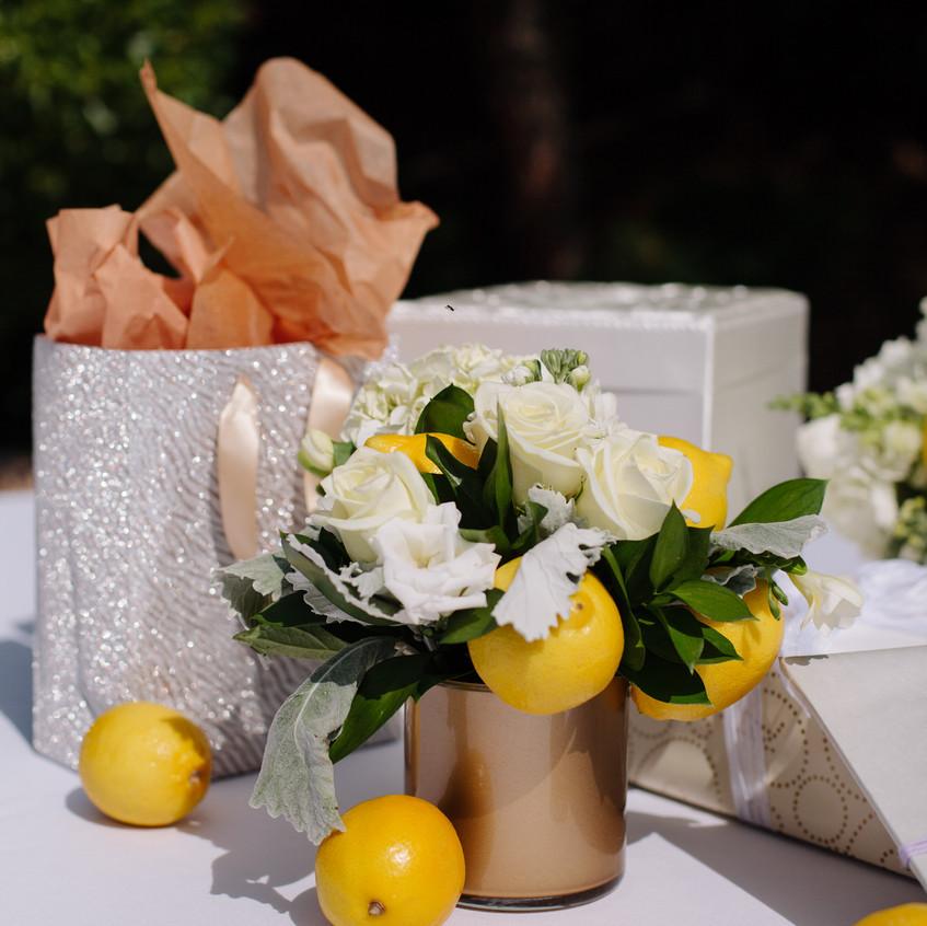 Lemon wedding centerpieces