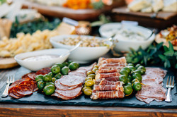 Details of the antipasti table.