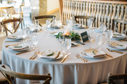 Grey linens with black and gold.