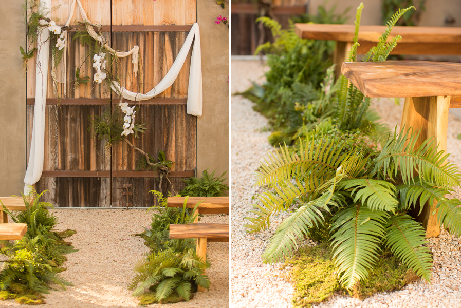Fern Wedding Aisle
