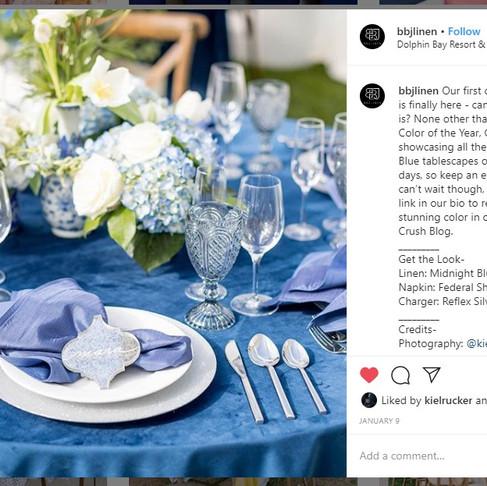 Blue + White Event On BBJ Linen | Le Festin Events