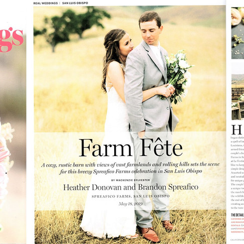 "Spreafico Farms Wedding | Featured on California Wedding Day ""Real Weddings"" Magazine | Le"