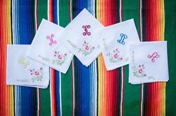 Custom handkerchiefs for bridesmaids