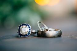 The wedding rings.