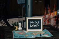 Love of travel = map guest book!