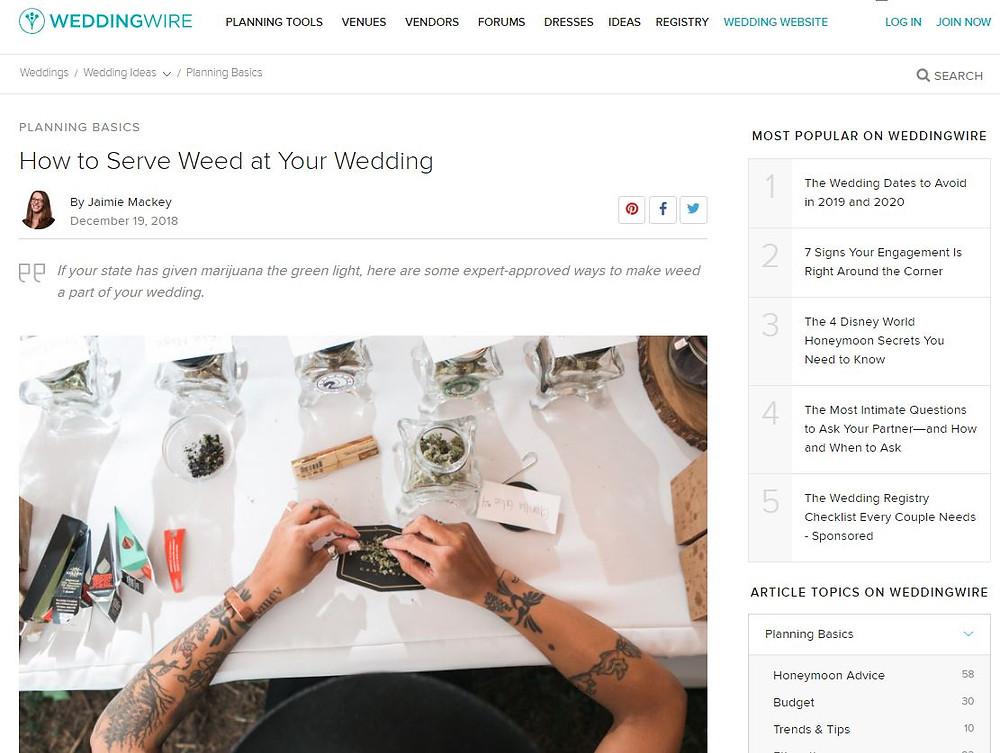 Le Festin Events How To Create A Cannabis Weed Wedding