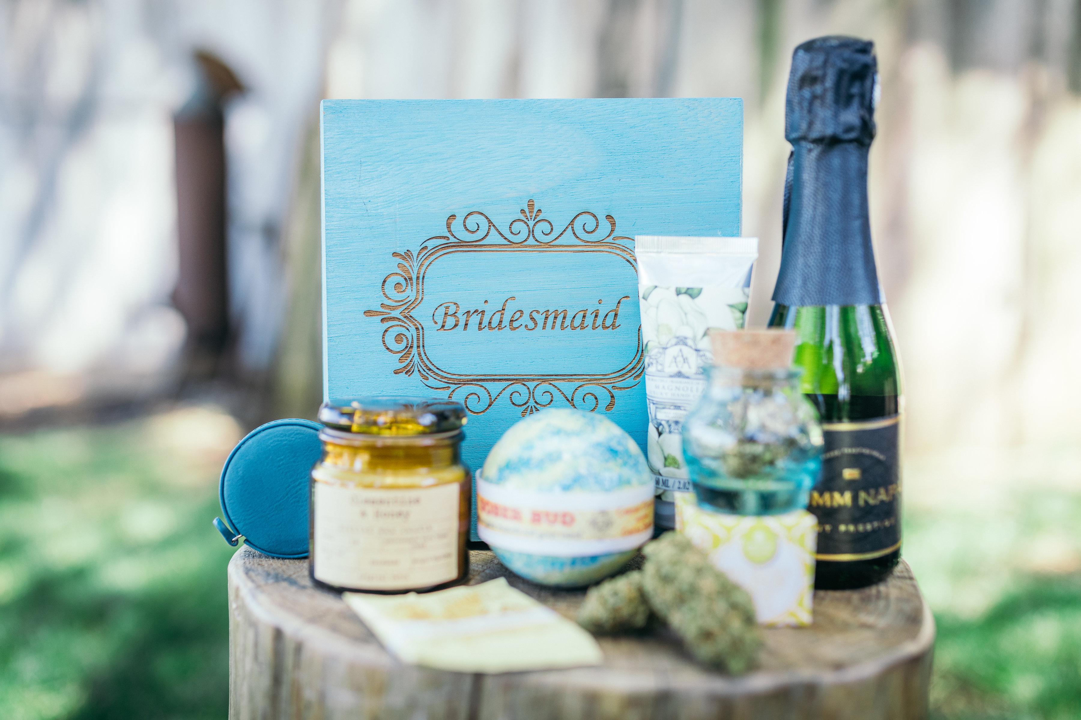 Bridesmaid gifts.