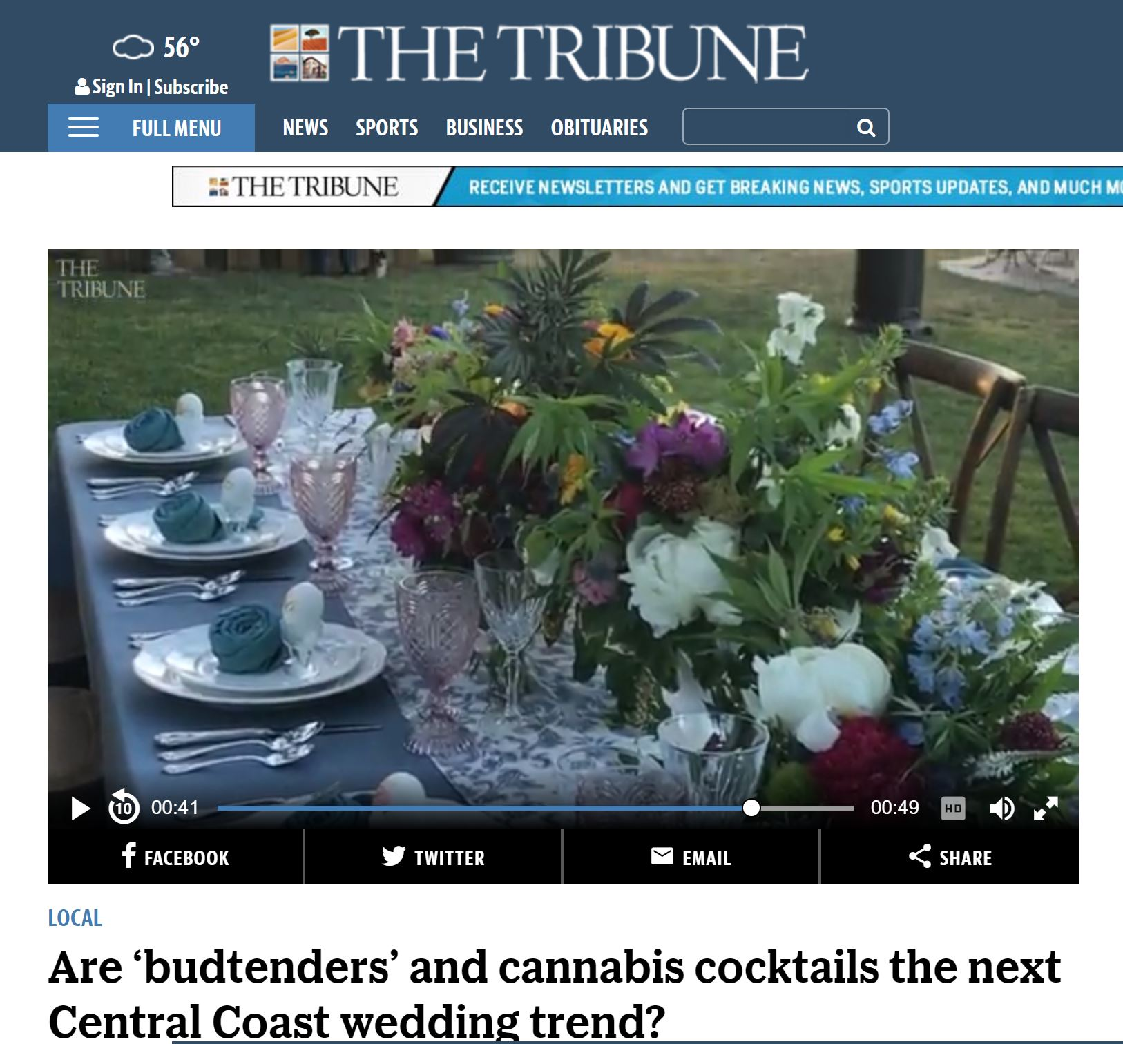 SLO TRIBUNE CANNABIS WEDDINGS