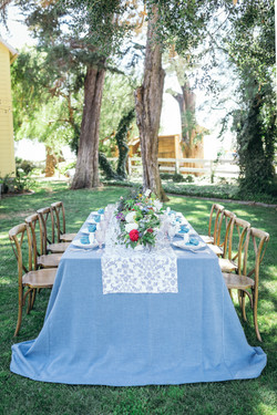 Tablescape with canna florals.