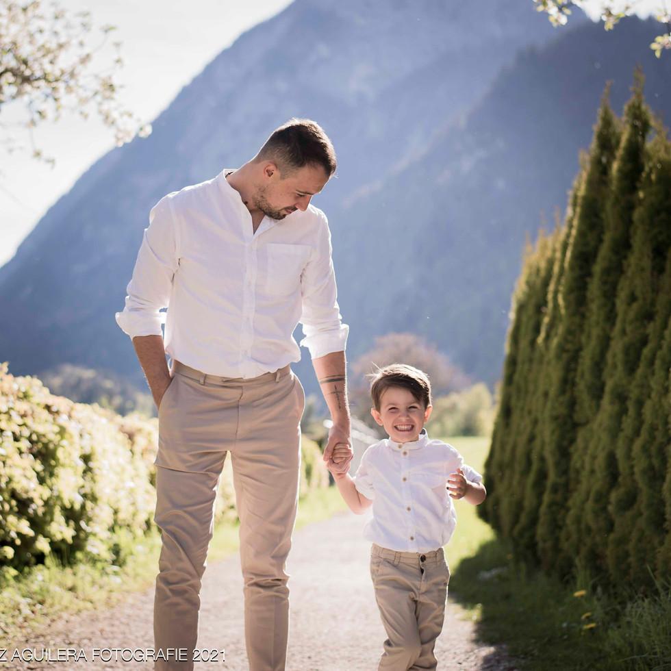 Brautpaarfotoshooting - Vater und Sohn