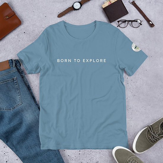 Unisex Cotton T-Shirt - Born to explore 2
