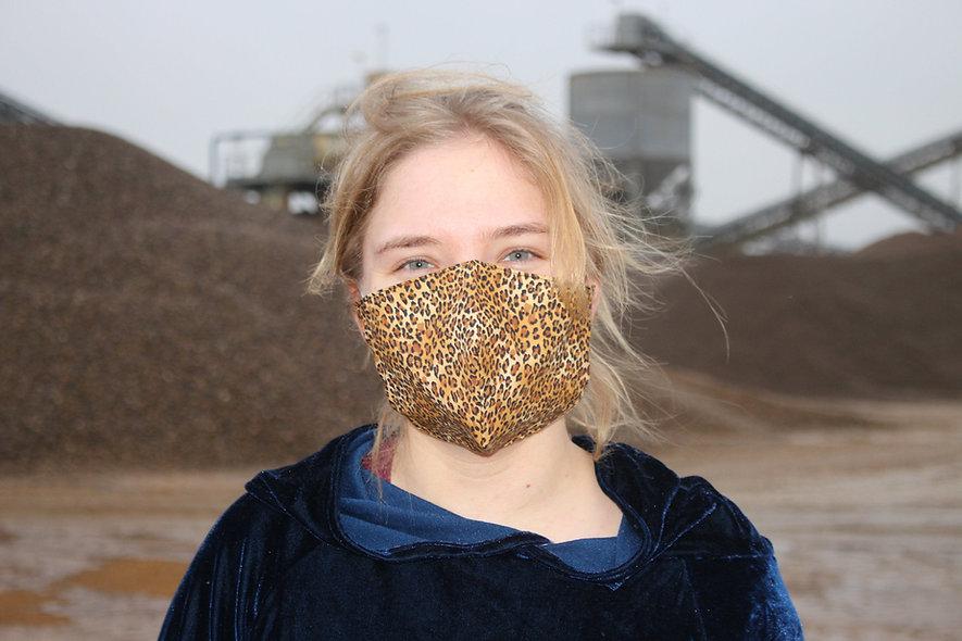 Leo Baumwolle FFP2 & KN95 Masken Überzieher- hannisch