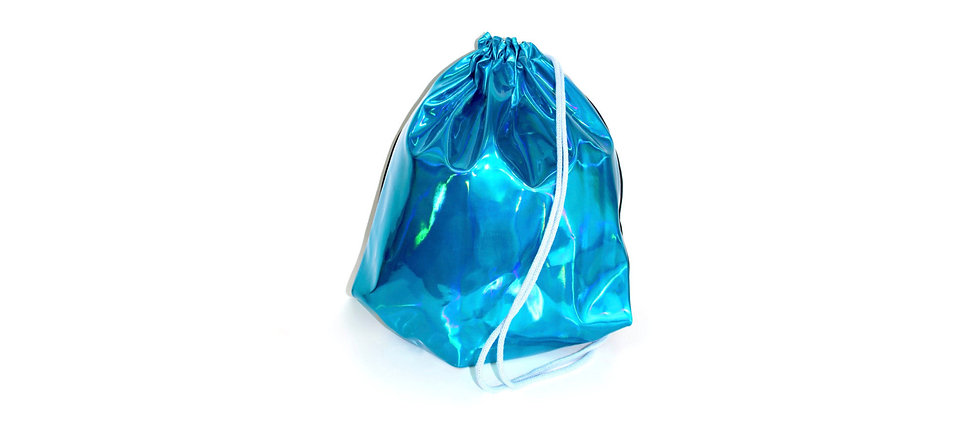 Holographic Leather Türkis Gym Bag - hannisch