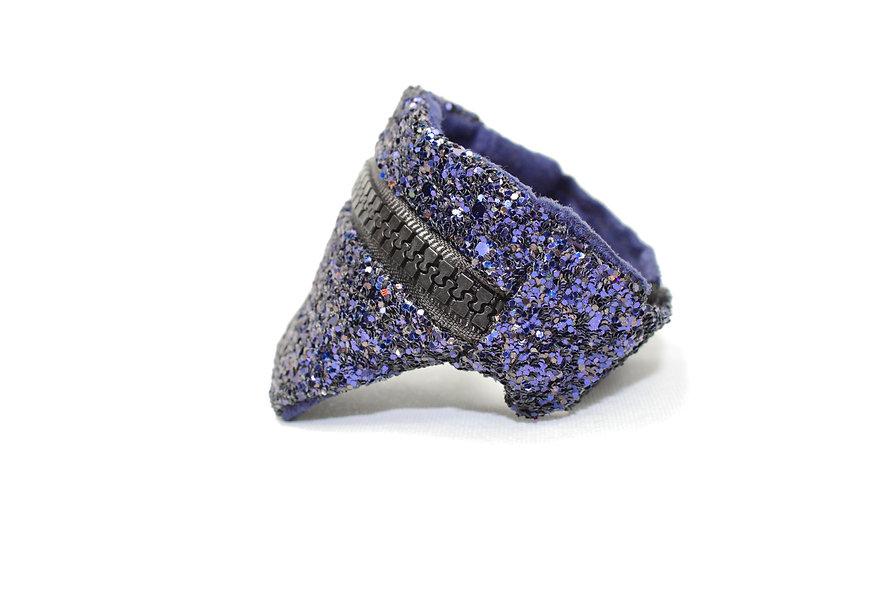Gelenktasche  Glitter Holo Dunkel Blau Tasche - hannisch