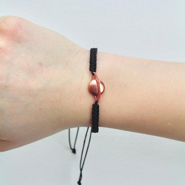 Makramee Saturn Kupfer Armband/Fußkette