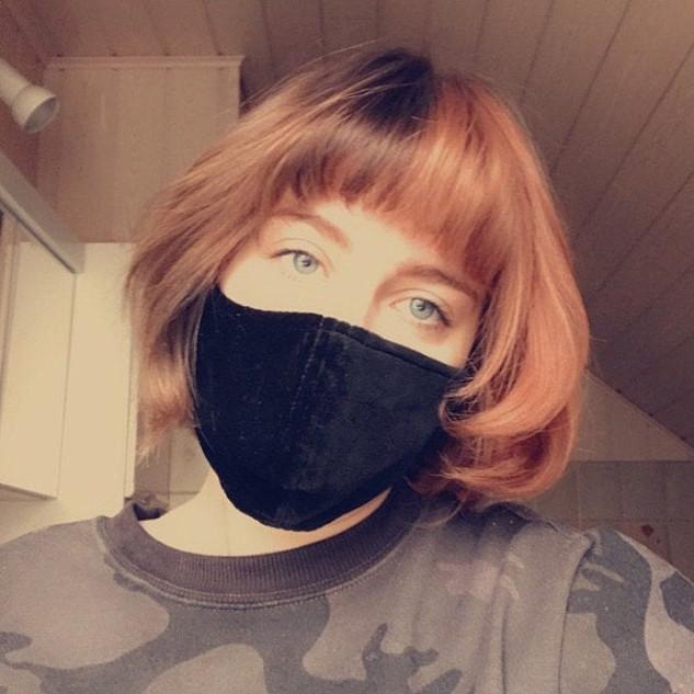 Samt Maske Schwarz