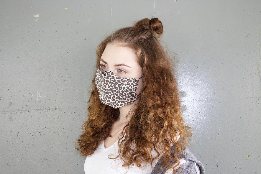 Leo Hell Baumwolle Flap Maske- hannisch