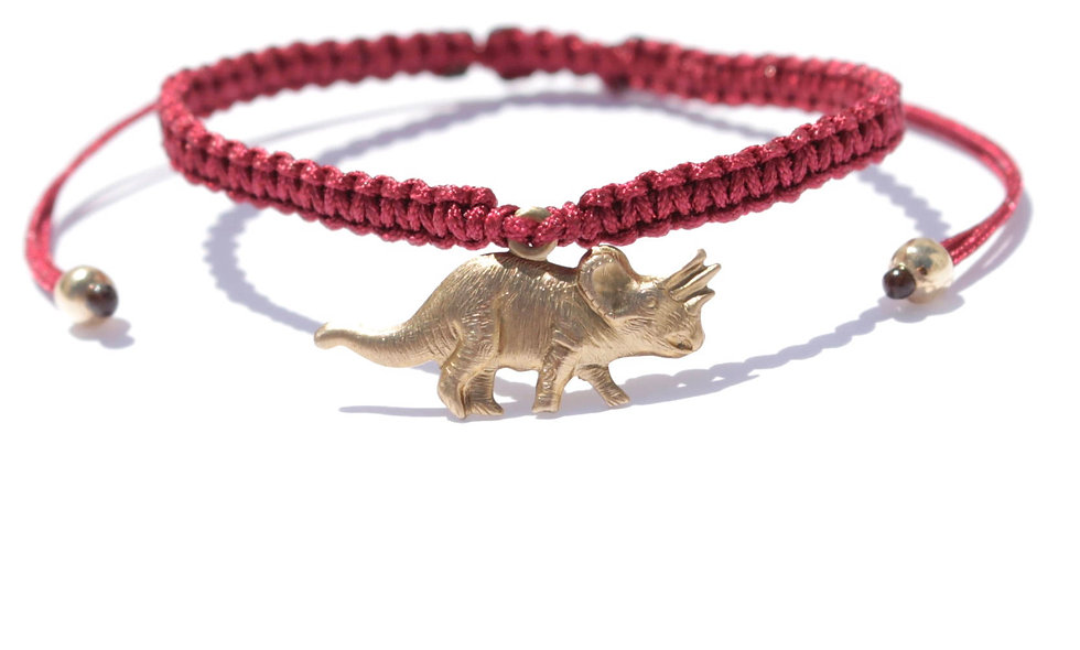 Makramee Triceratops Gold  Armband/Fußkette