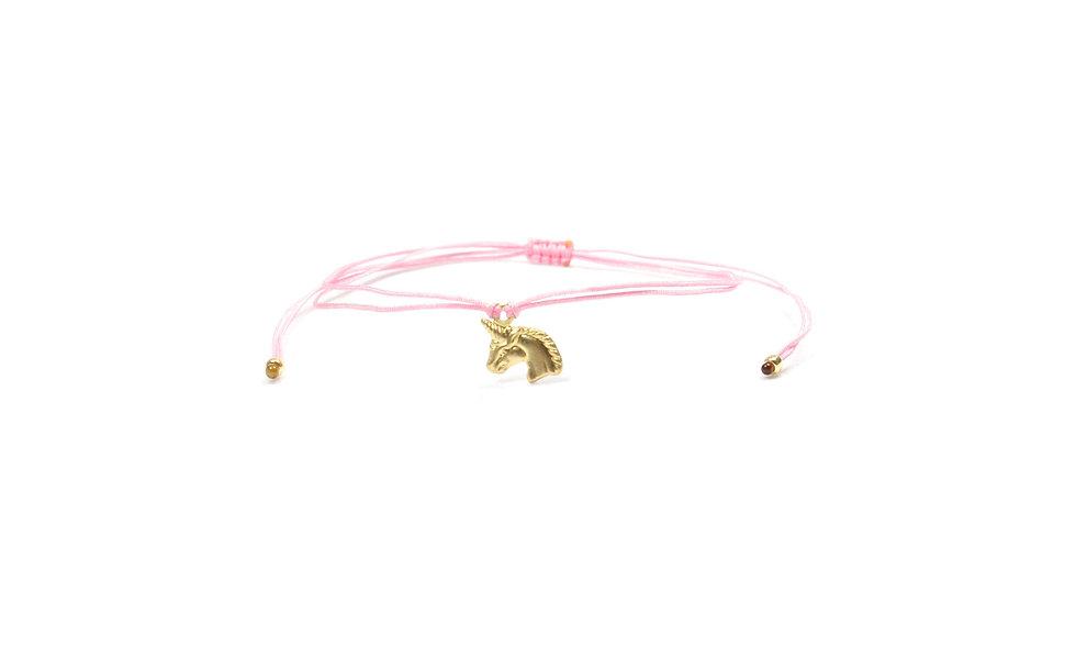Kordel Einhorn Gold Armband/Fußkette