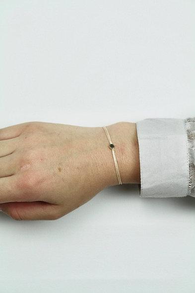Kordel Winziger Kreis Gold Armband/Fußkette