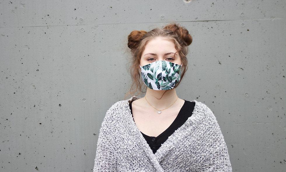 Blätter Baumwolle Maske- hannisch