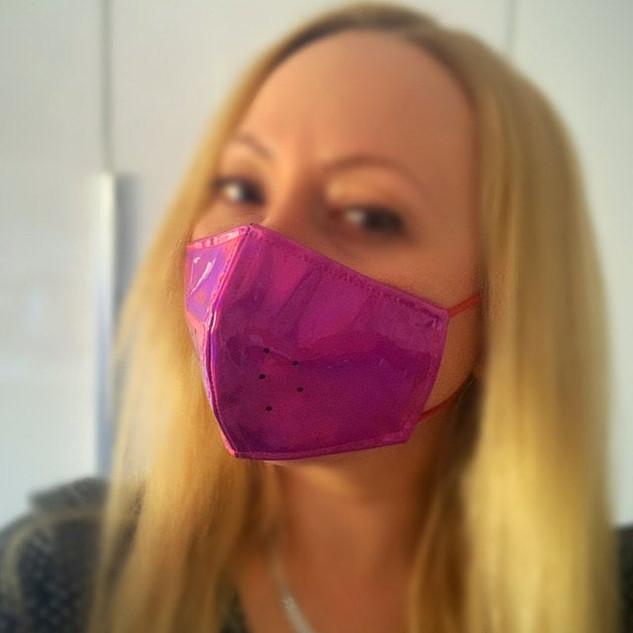 Pink Holo Maske