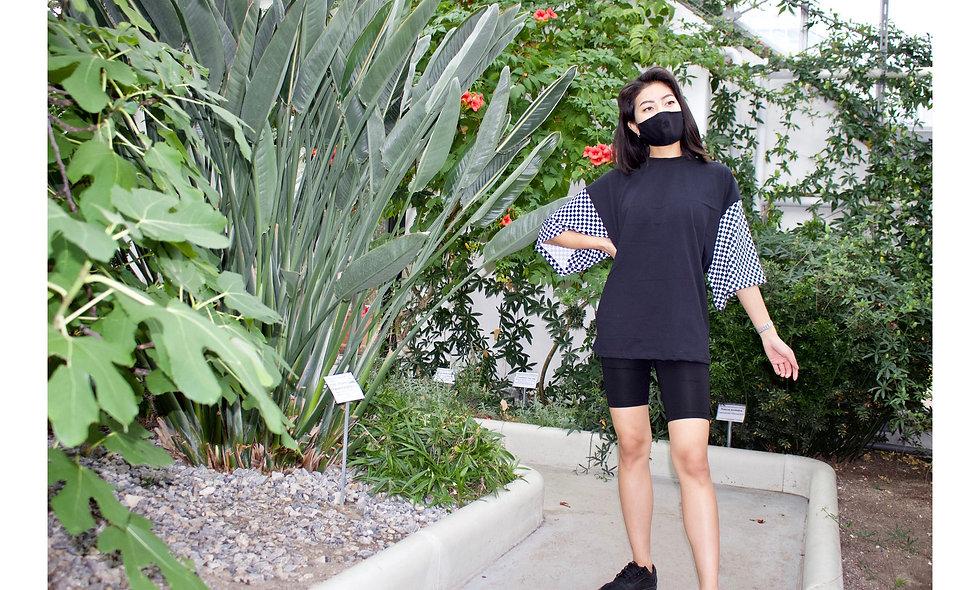 Unisex Oversized Shirt Check Sleeves - hannisch