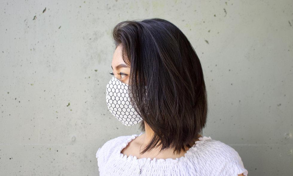 Draht Weiß Baumwolle Maske- hannisch