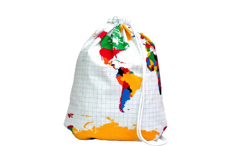 Weltkarte Bunt Gym Bag - hannisch