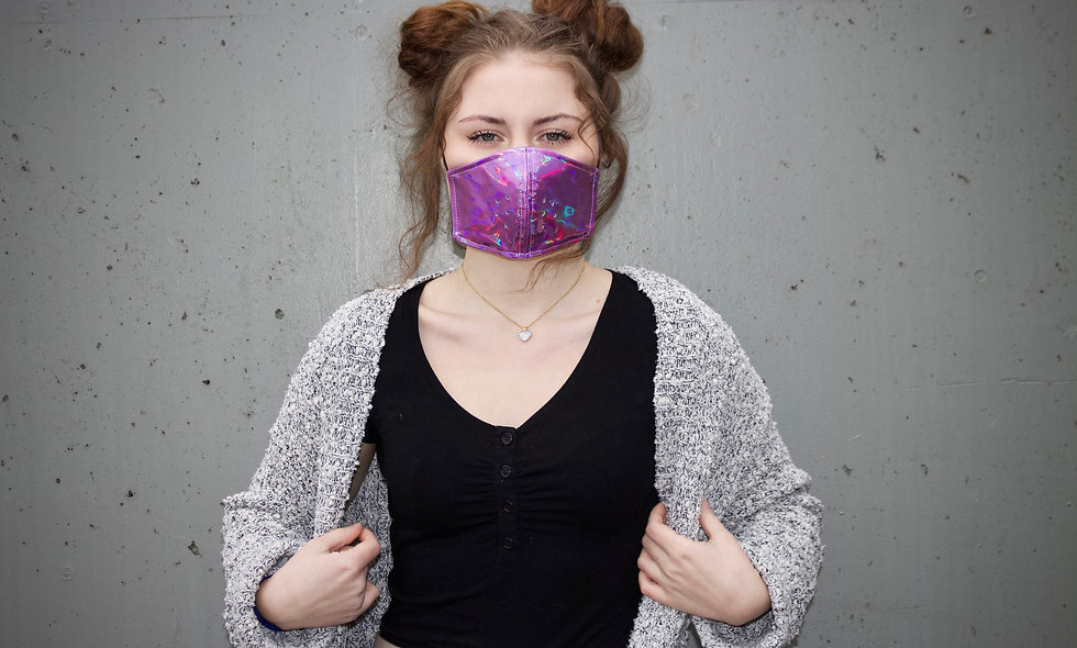 Holographic Lila Maske- hannisch