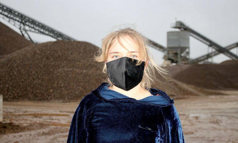 Samt Schwarz Baumwolle FFP2 & KN95 Masken Überzieher- hannisch